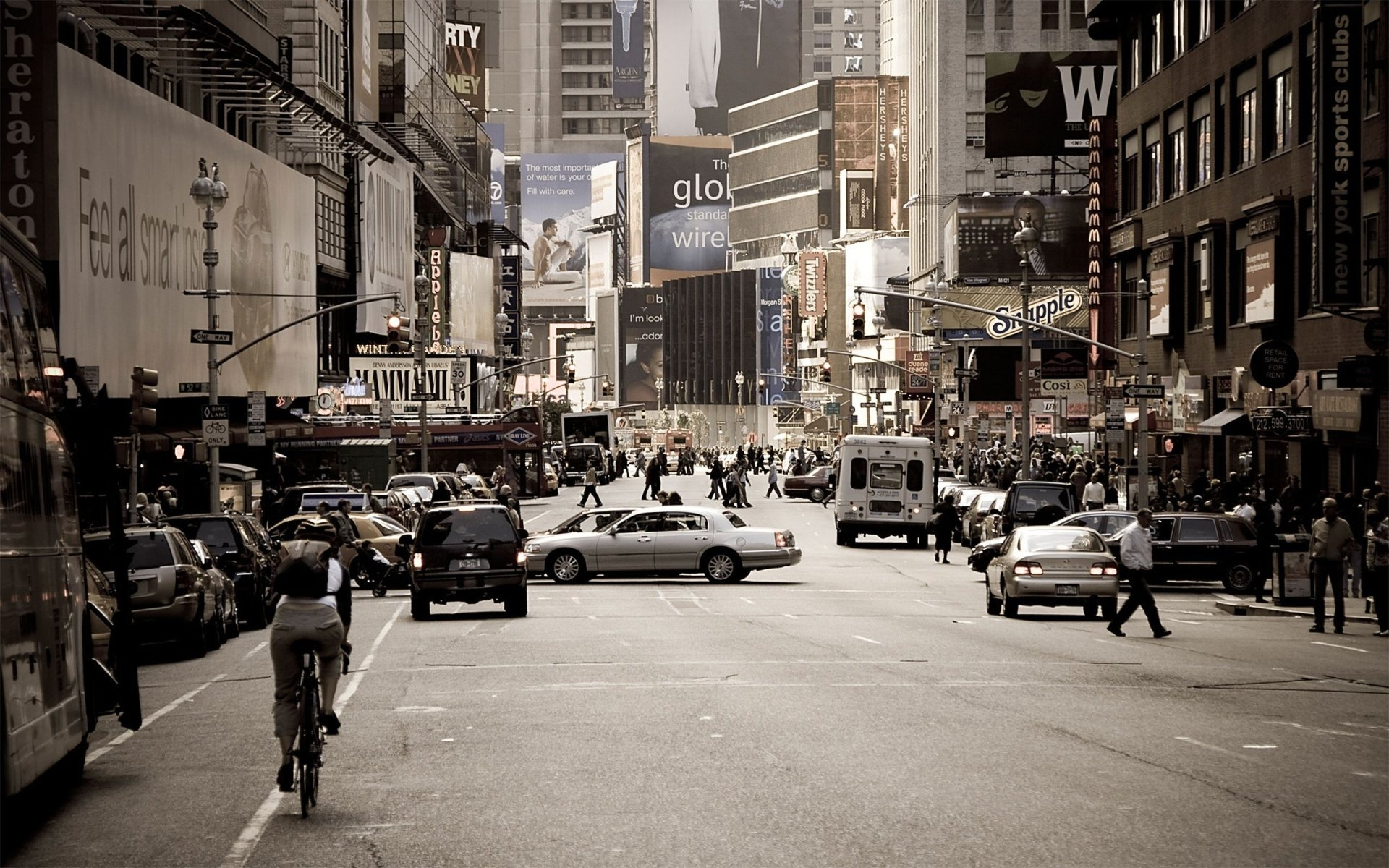 Рукотворное - Город  Нью-Йорк Шифт-Объектив Обои