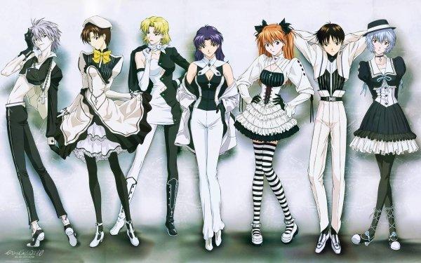 Anime Neon Genesis Evangelion Evangelion Kaworu Nagisa Shinji Ikari Asuka Langley Sohryu Rei Ayanami Fondo de pantalla HD | Fondo de Escritorio