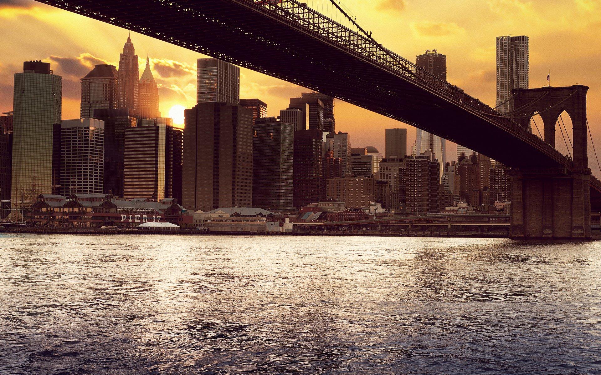 Обои Brooklyn bridge, new york, бруклинский мост. Города foto 19