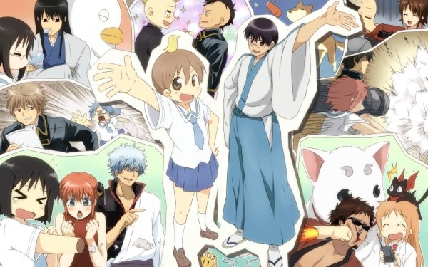 Anime Crossover Nichijō Gintama Fondo de pantalla HD | Fondo de Escritorio