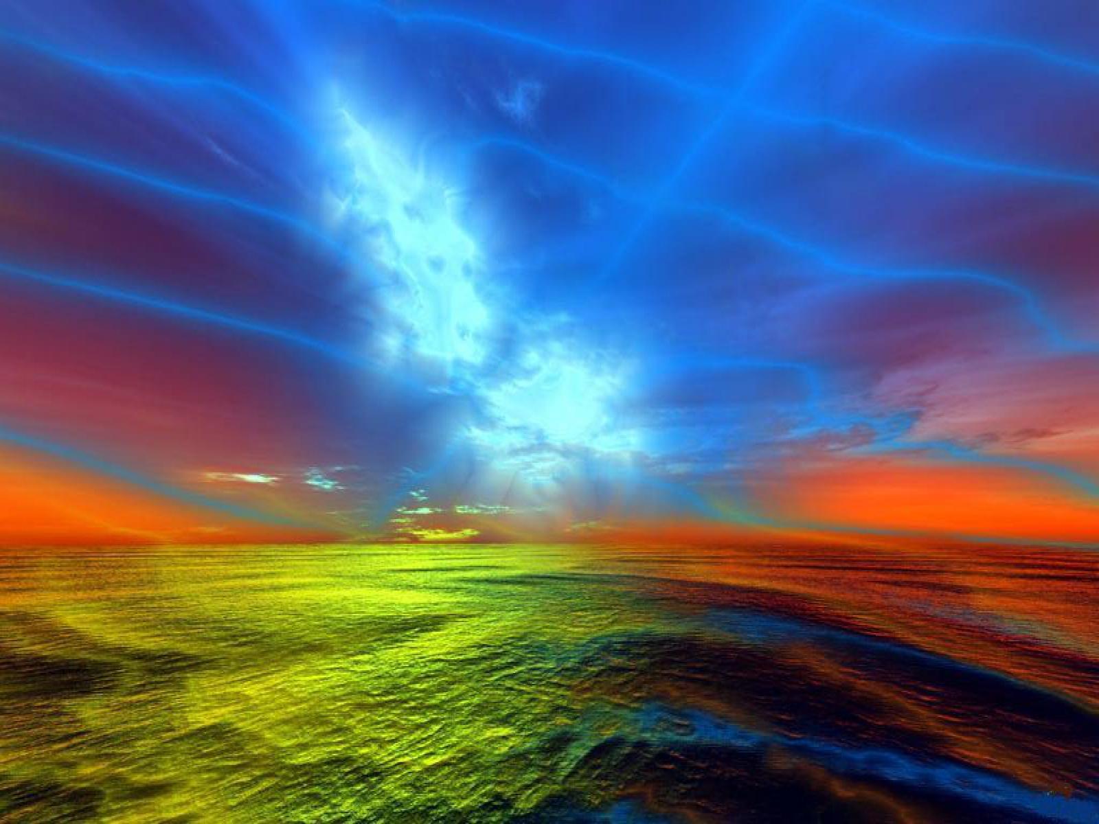 iridescent ocean computer wallpapers desktop backgrounds