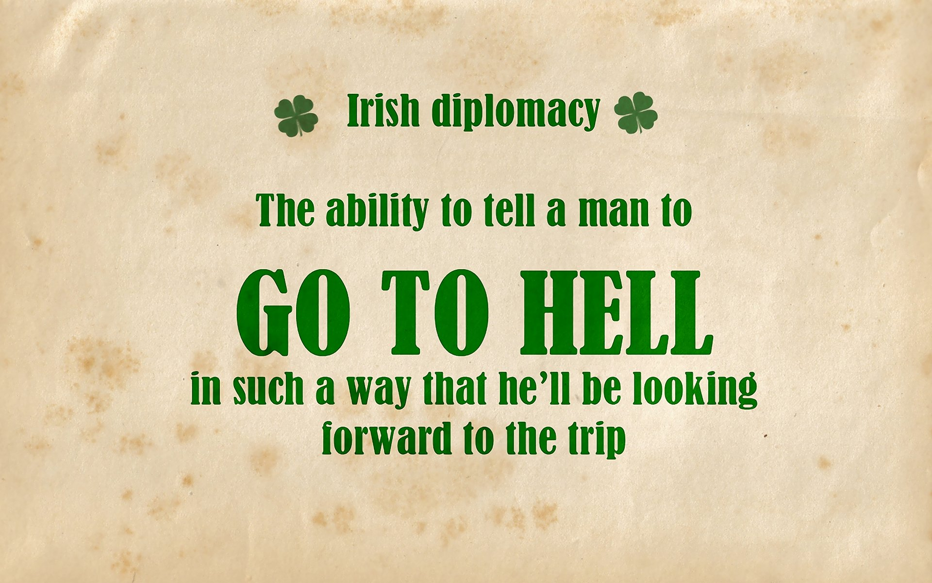 Humor - Funny  Irish Wallpaper