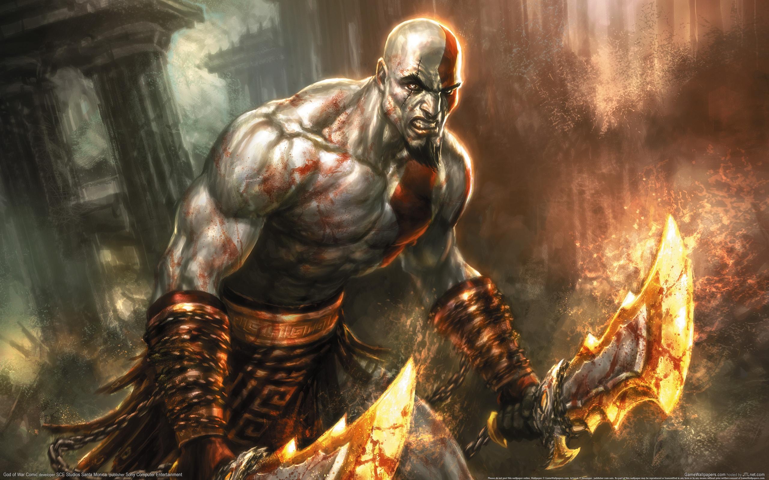 Ghost God Kratos War HD Wallpaper
