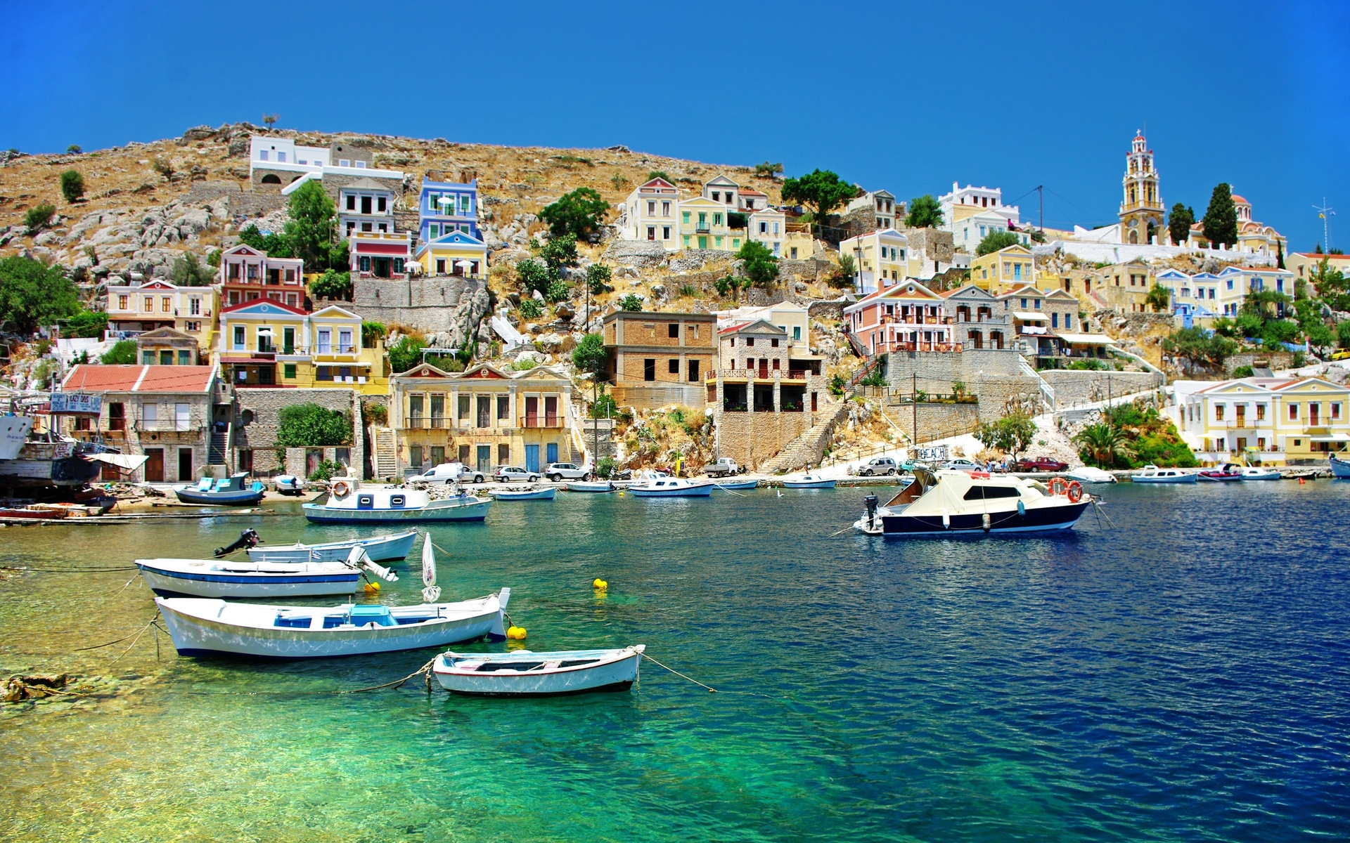 The Greek Islands Of Symi Amp Rhodes Full Hd Wallpaper And Background Image 1920x1200 Id 279609