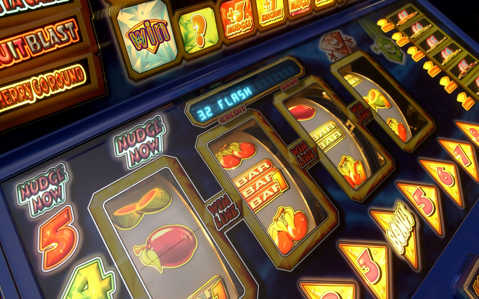 slot machine background