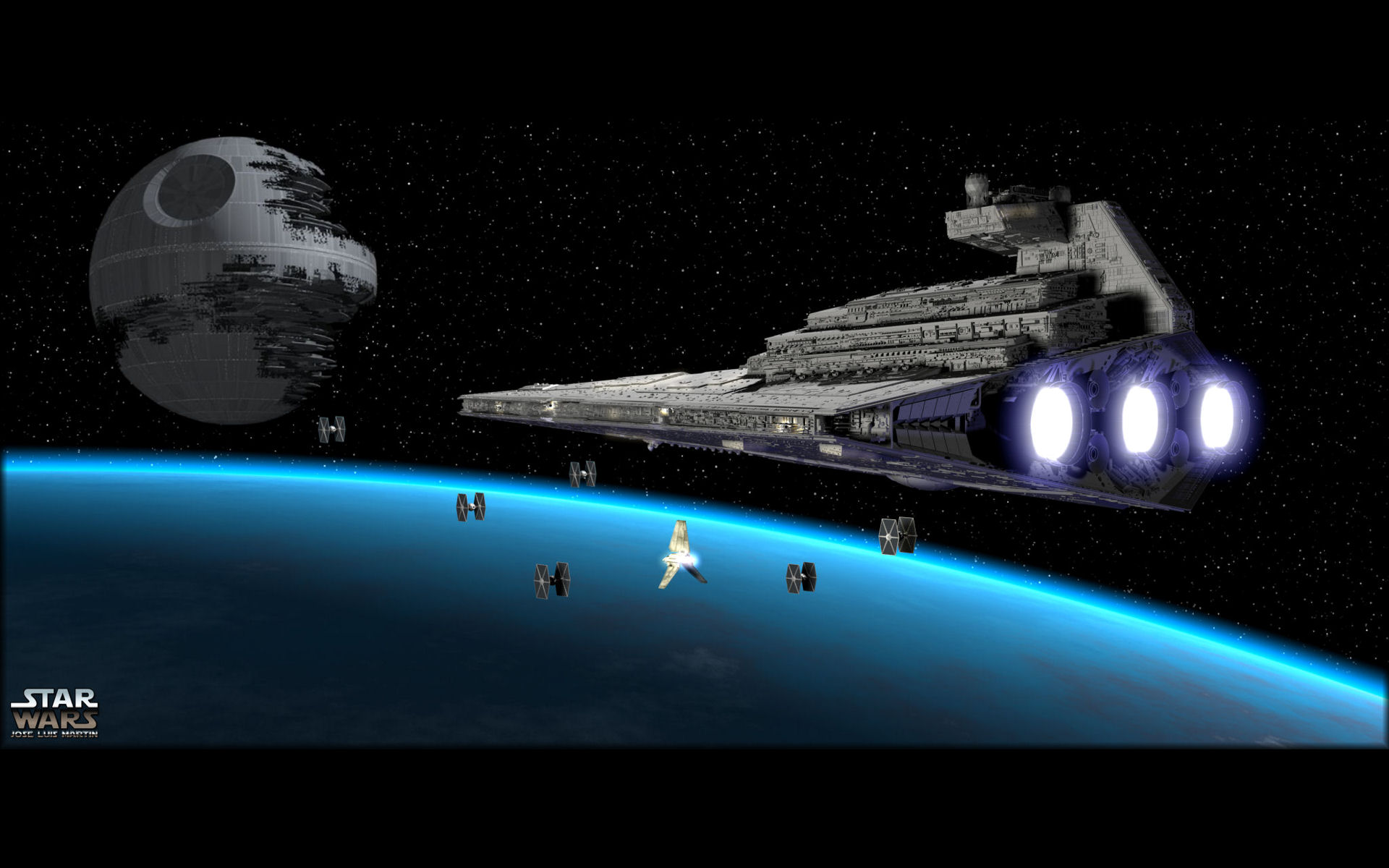 sci fi star wars death star star destroyer tie fighter wallpaper