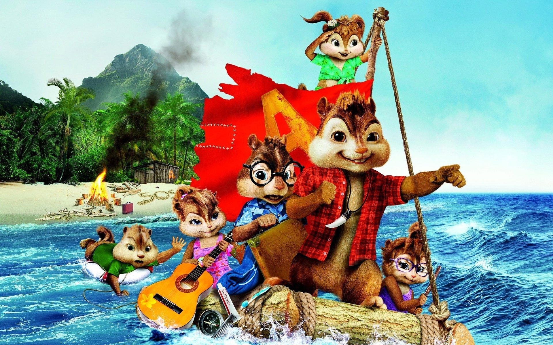 5 Alvin And The Chipmunks Chipwrecked Hd Wallpapers Background