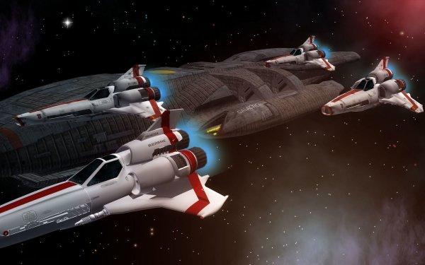 TV Show Battlestar Galactica (2003) Battlestar Galactica Spaceship Space HD Wallpaper | Background Image