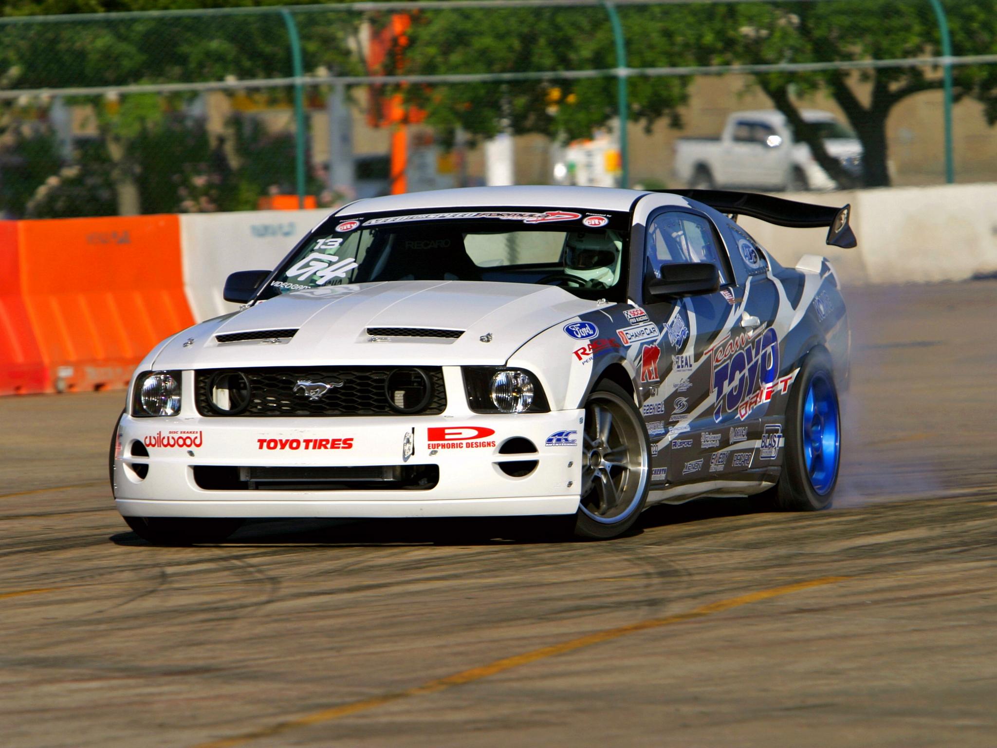 Mustang GT Formula Drift '2005–08 Full HD Wallpaper and