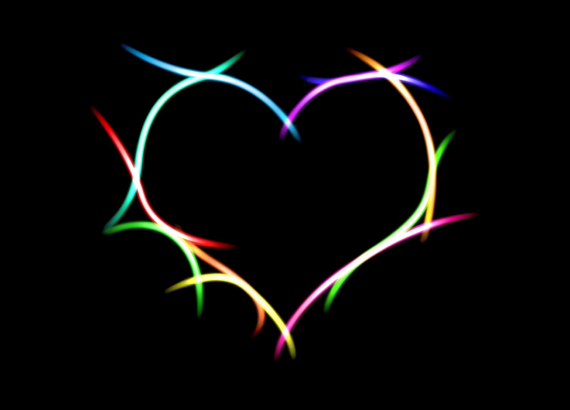 艺术 - 爱  艺术 心形 Neon 光 Digital 数字艺术 壁纸