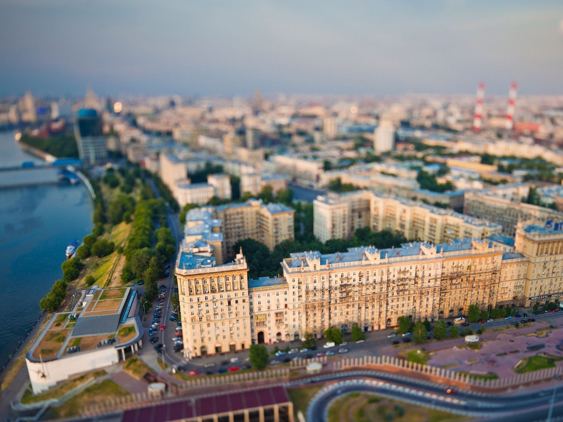 Miniature Moscow From The Top Of 200 Meter Federation Tower Hd