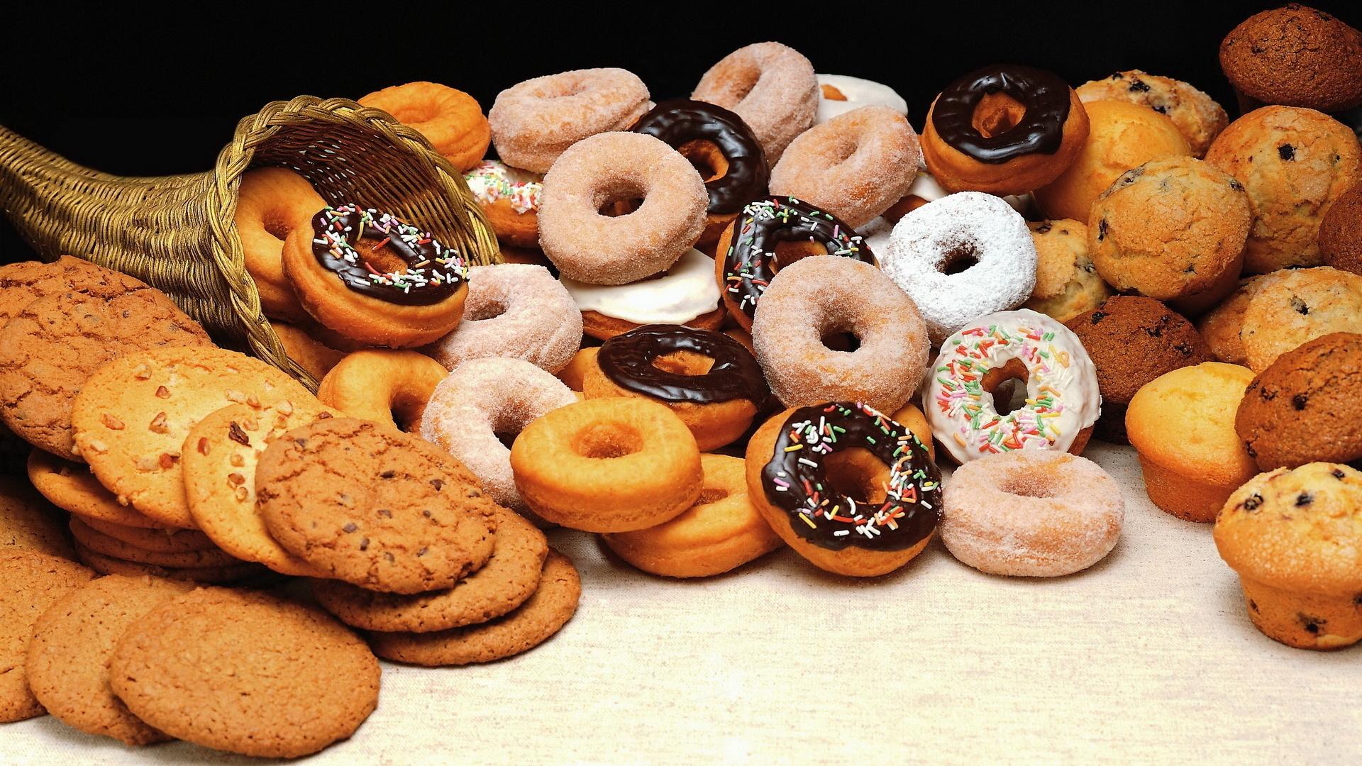 Alimento - Sweets  Cookie Doughnut Muffin Sfondo
