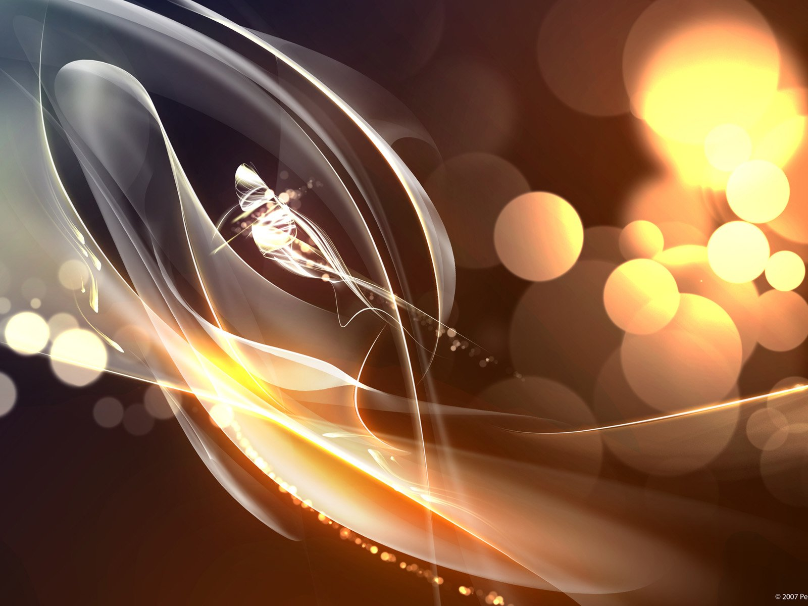 Abstract - Cool  CGI Light Abstract Wallpaper