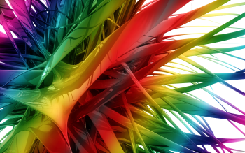 Abstract Cool CGI Colors Rainbow 3D Digital Art Colorful HD Wallpaper | Background Image