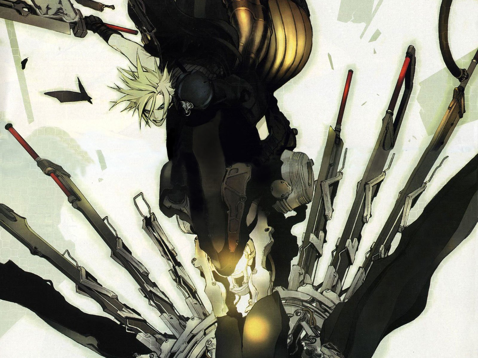 Movie - Final Fantasy VII: Advent Children  Cloud Strife Sword Wallpaper
