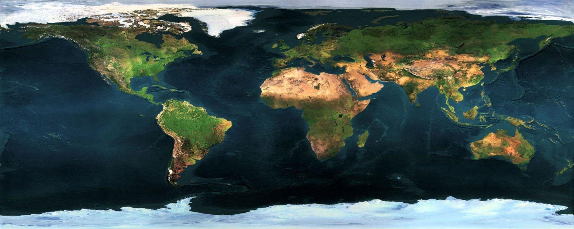Multi Monitor - Earth  Wallpaper