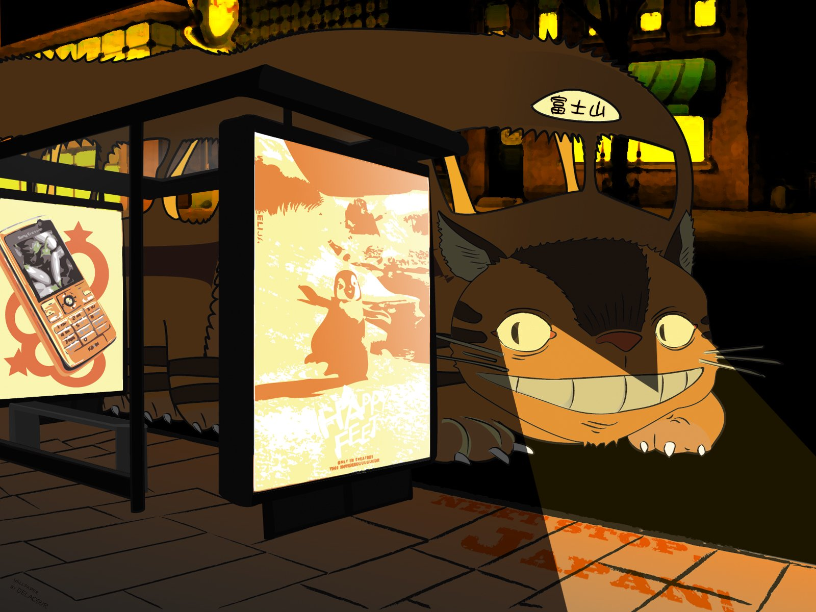 9 Catbus My Neighbor Totoro Hd Wallpapers Background Images