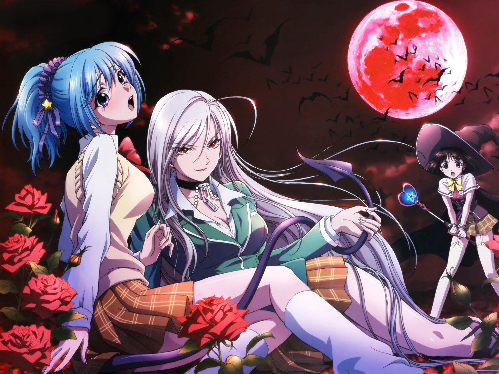 Rosario vampire wallpaper and background image - Wallpaper vampire anime ...