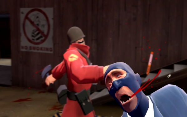 Video Game Team Fortress 2 Team Fortress Cigarette Blood Humor HD Wallpaper | Background Image