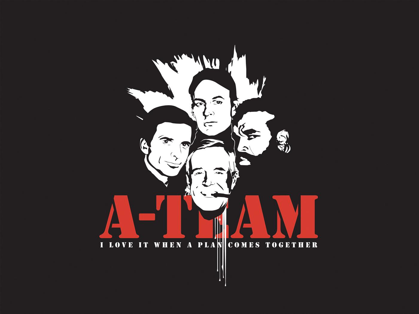 TV Show - The A-Team  Face Cast Wallpaper