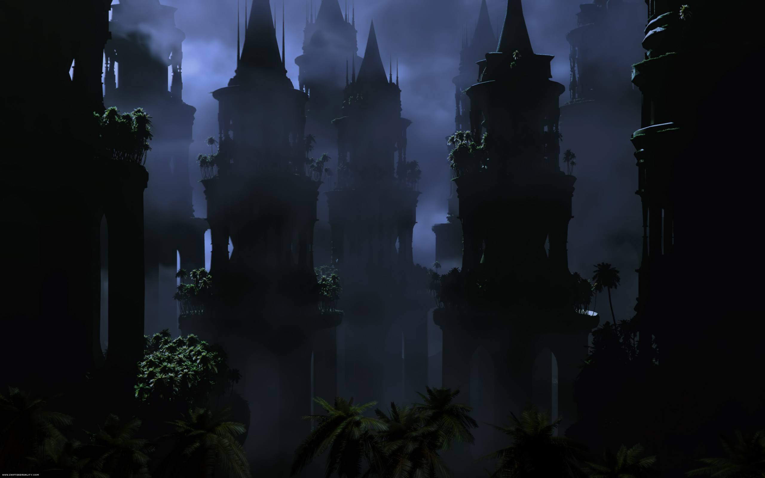 Dark - City  - Towers Wallpaper