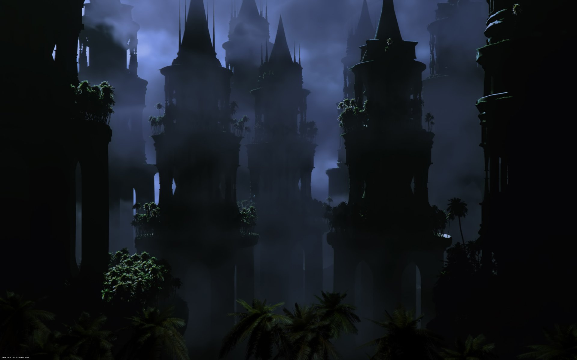 Dark - City  Towers Wallpaper