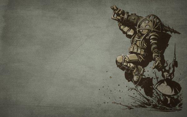 Video Game Bioshock Big Daddy HD Wallpaper | Background Image