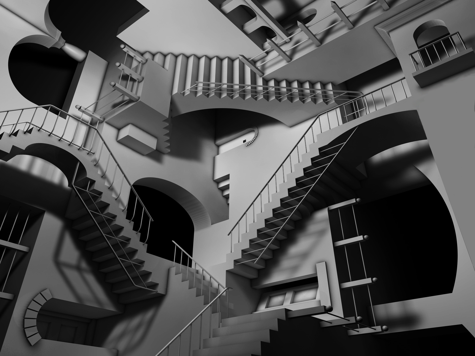 CGI - Cool  - Crazy Stairs Wallpaper
