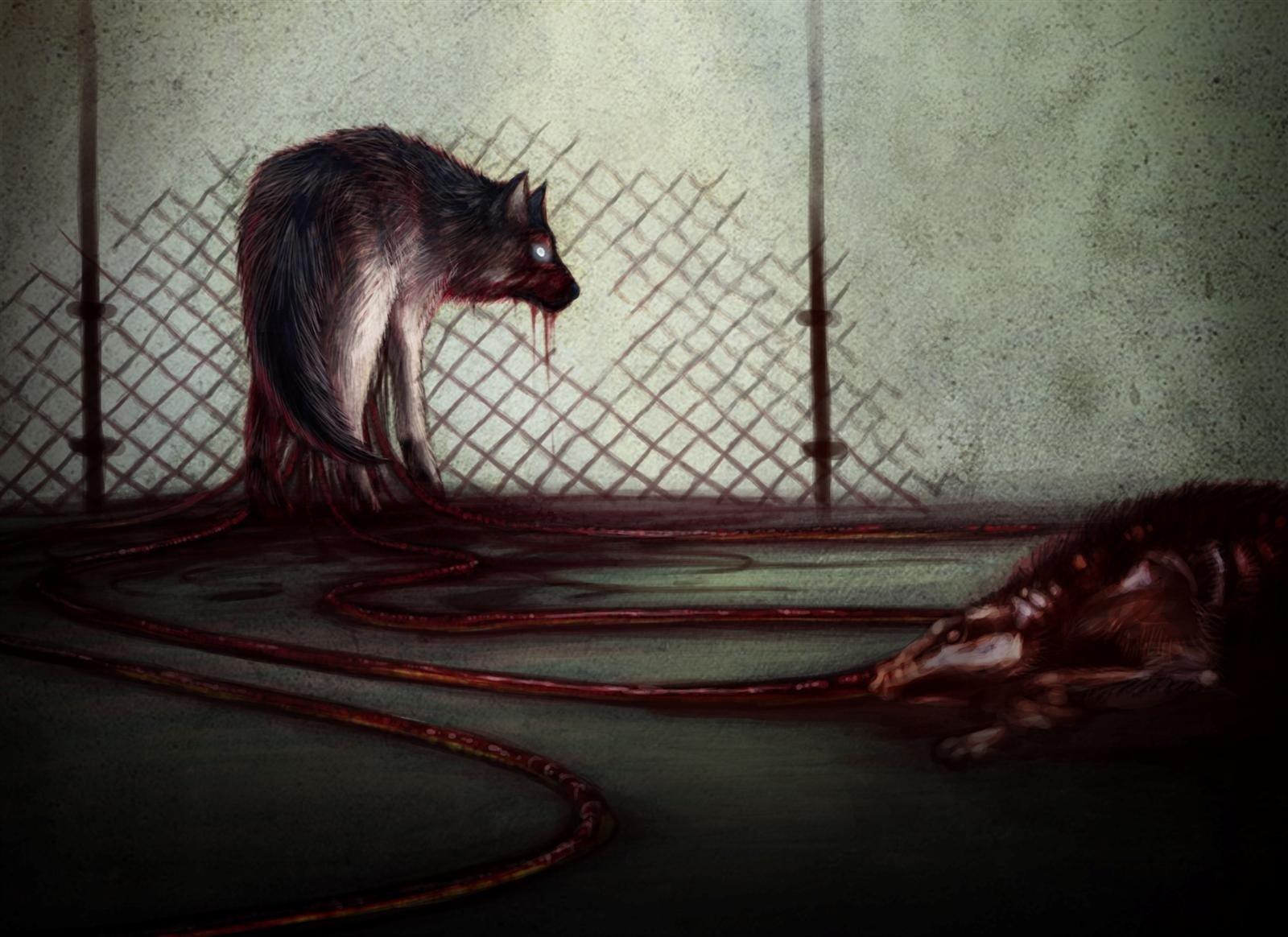 Dark - Creature  Dark Gore Blood Wallpaper