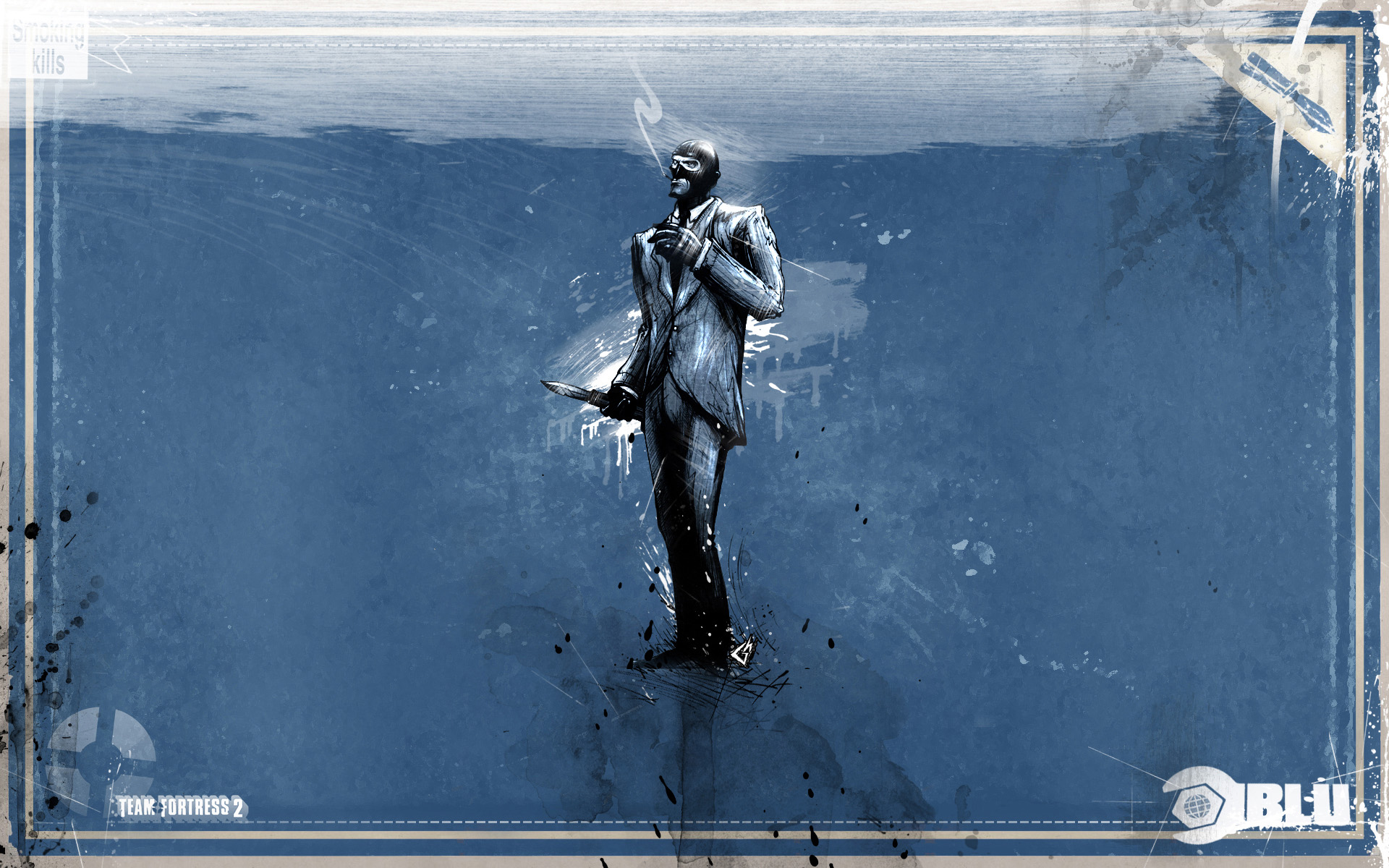 Video Game - Team Fortress 2  Spy Blue Wallpaper