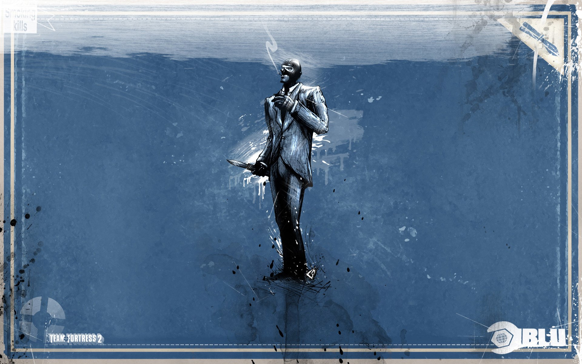 Video Game - Team Fortress 2  Spy (Team Fortress) Blue Wallpaper