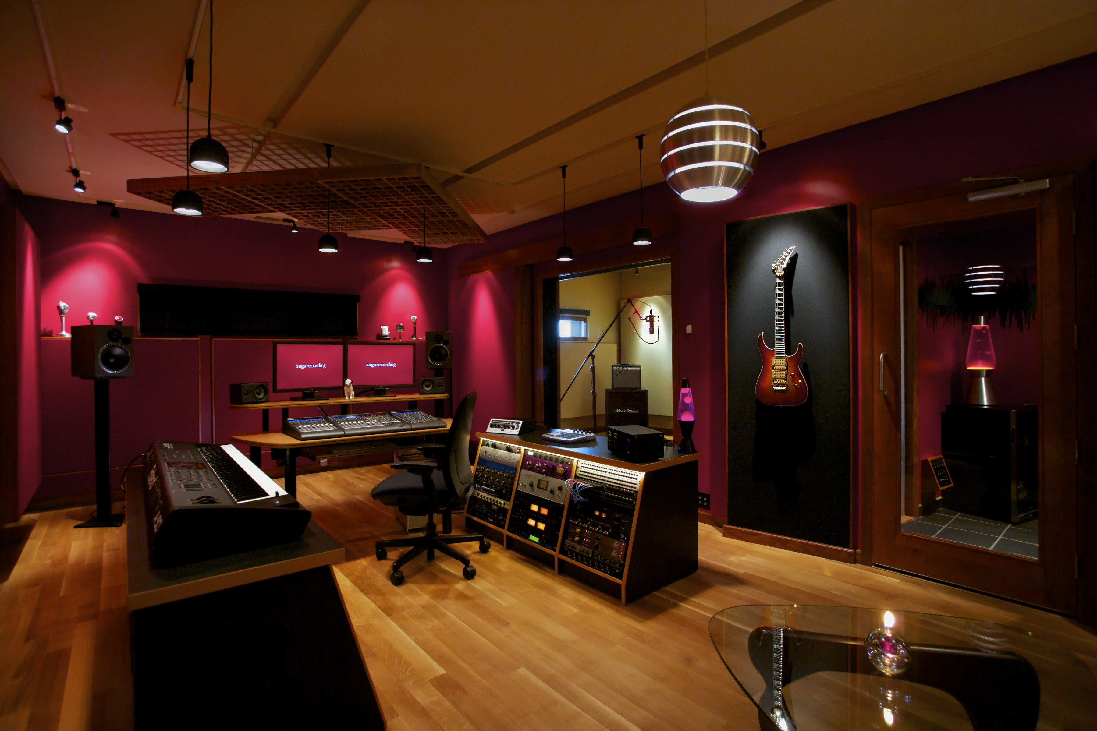 Recording studio full hd wallpaper and background image for Music home studio design ideas
