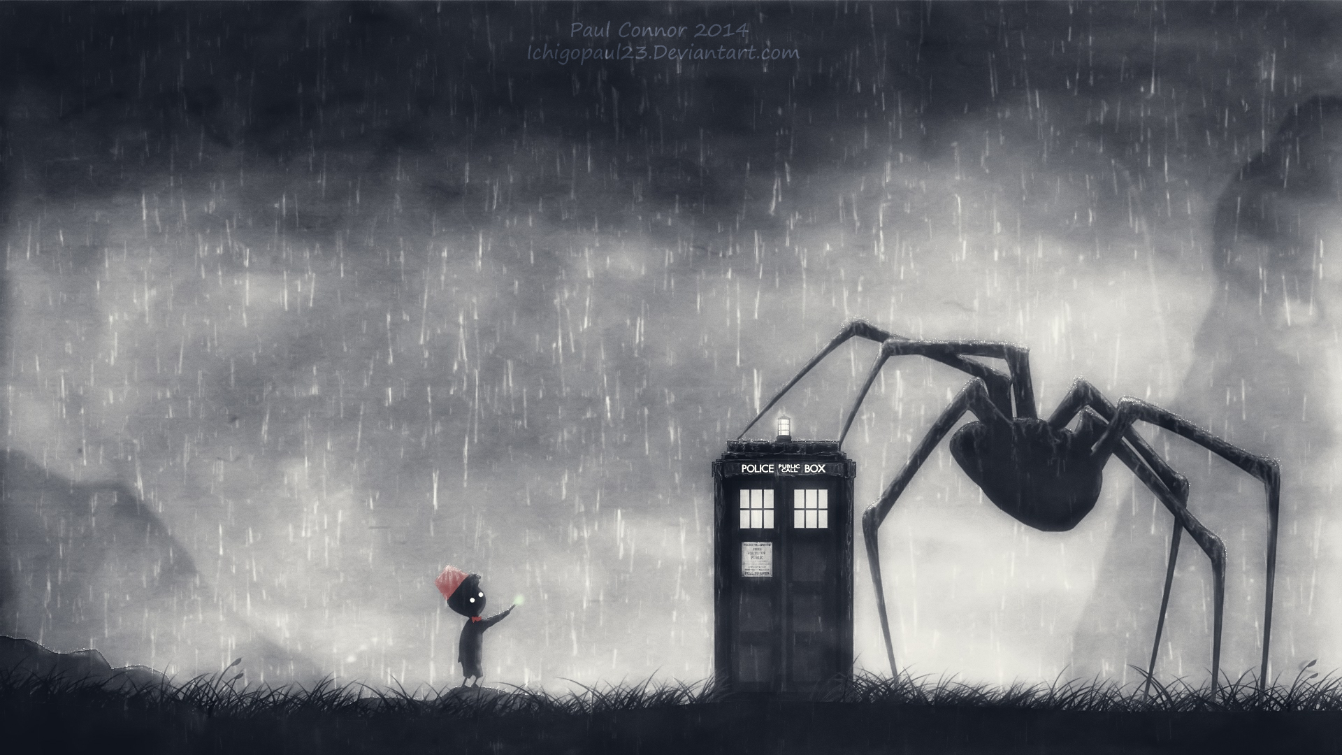 Video Game - Crossover  Limbo (Video Game) Doctor Who Wallpaper
