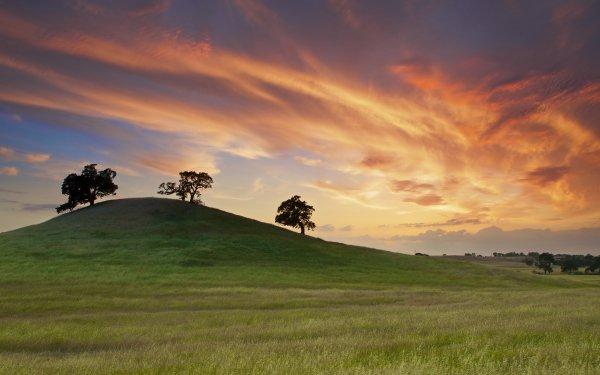 Tierra/Naturaleza Paisaje Atardecer Nube Colores Hill Fondo de pantalla HD | Fondo de Escritorio