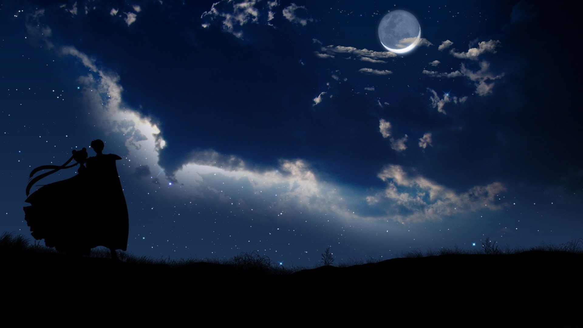 Related Wallpapers Anime Background Moon