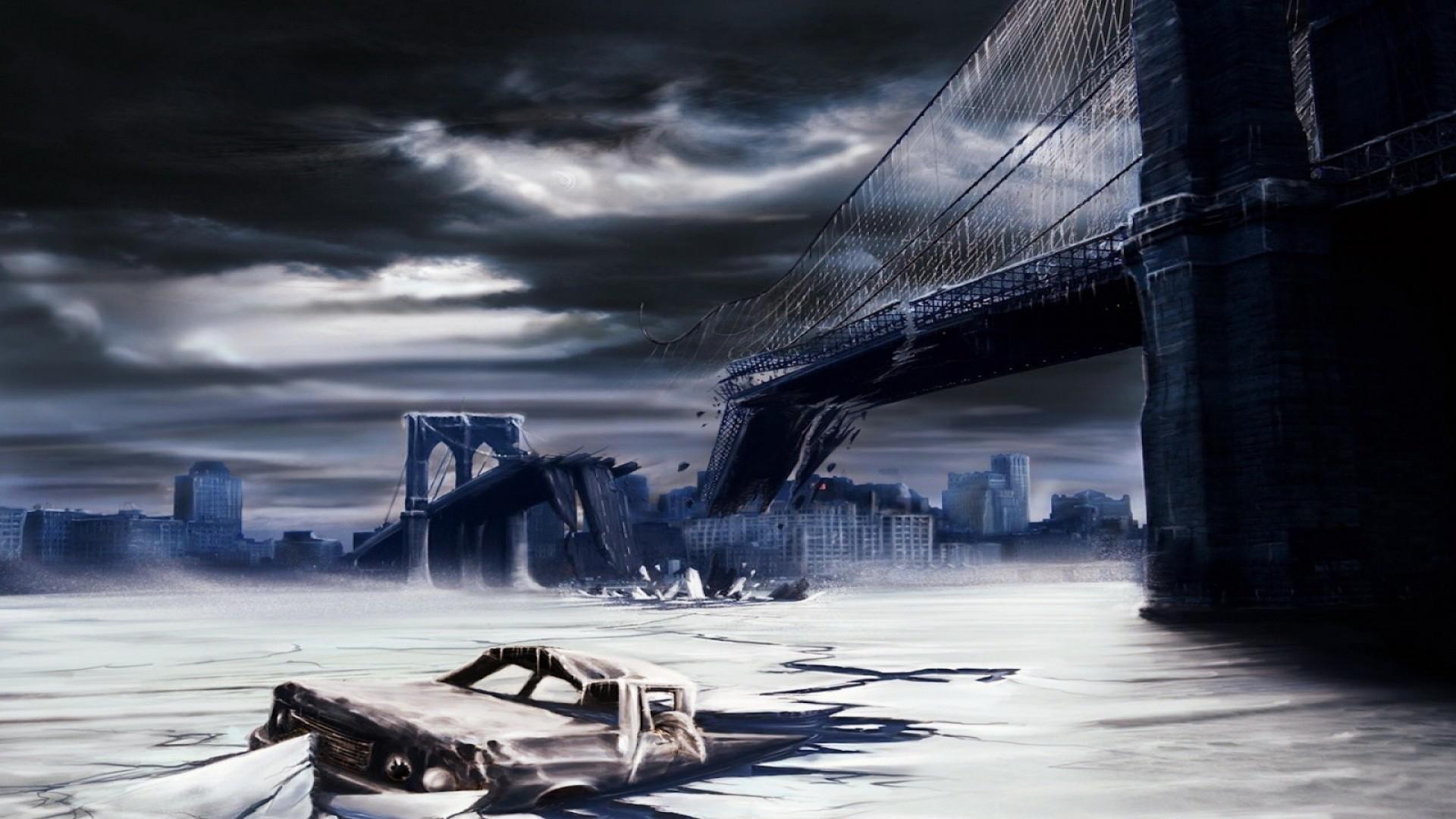 Sci Fi - Post Apocalyptic  Golden Gate Bridge Wallpaper