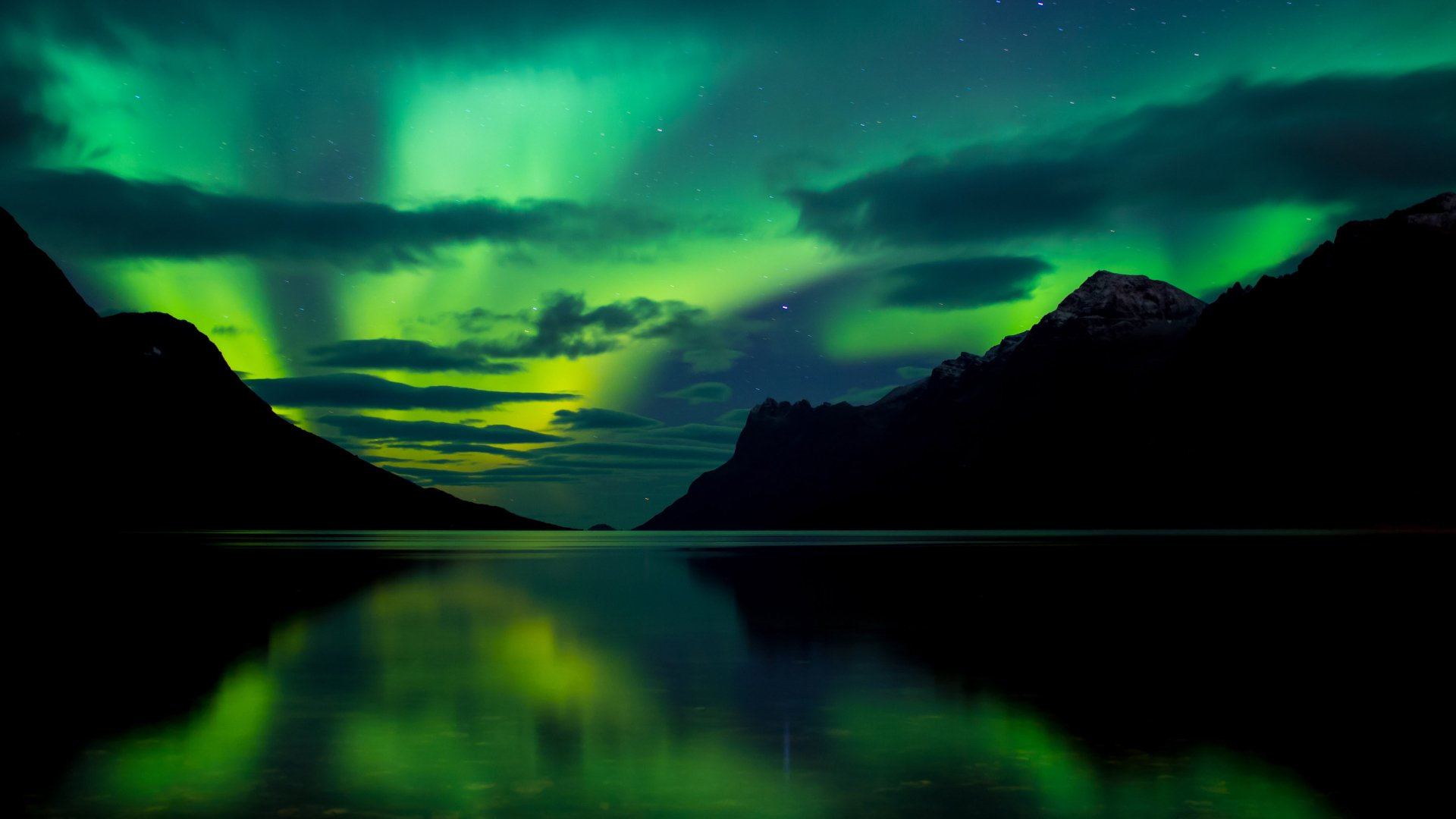 Earth - Aurora Borealis  Night Wallpaper