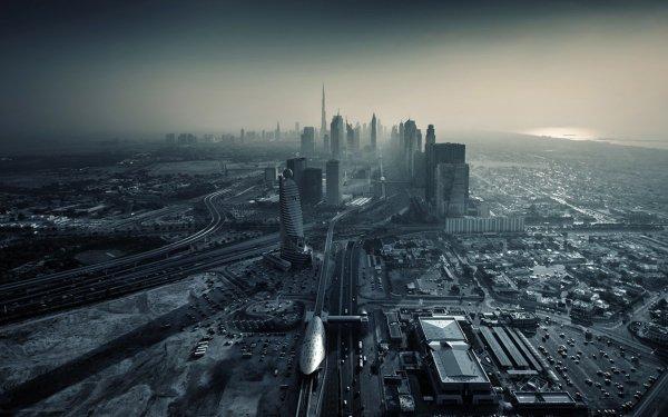 Man Made Dubai Cities United Arab Emirates Grey HD Wallpaper | Background Image