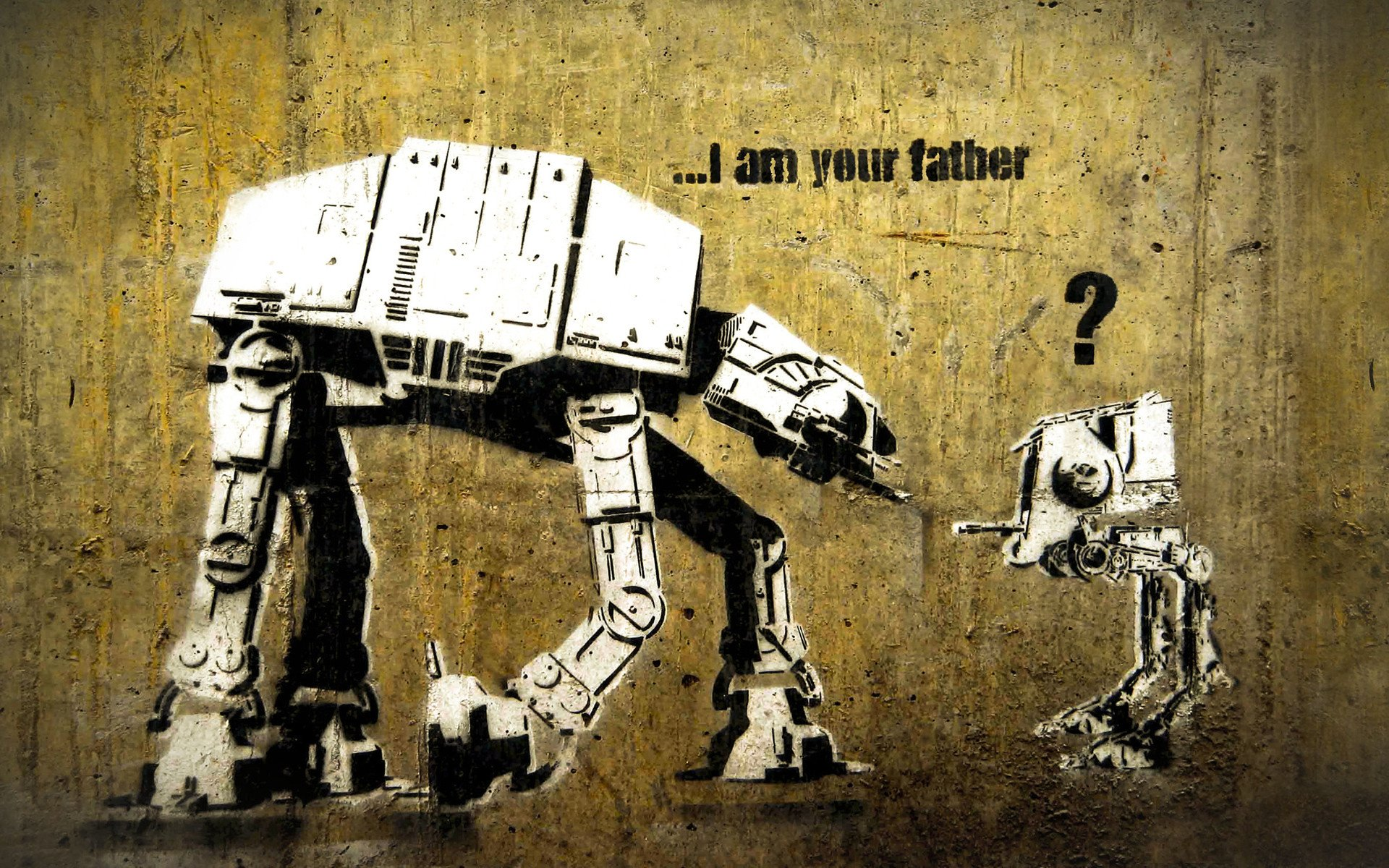 Filme - Star Wars  Lustig AT-AT Walker AT-ST Wallpaper