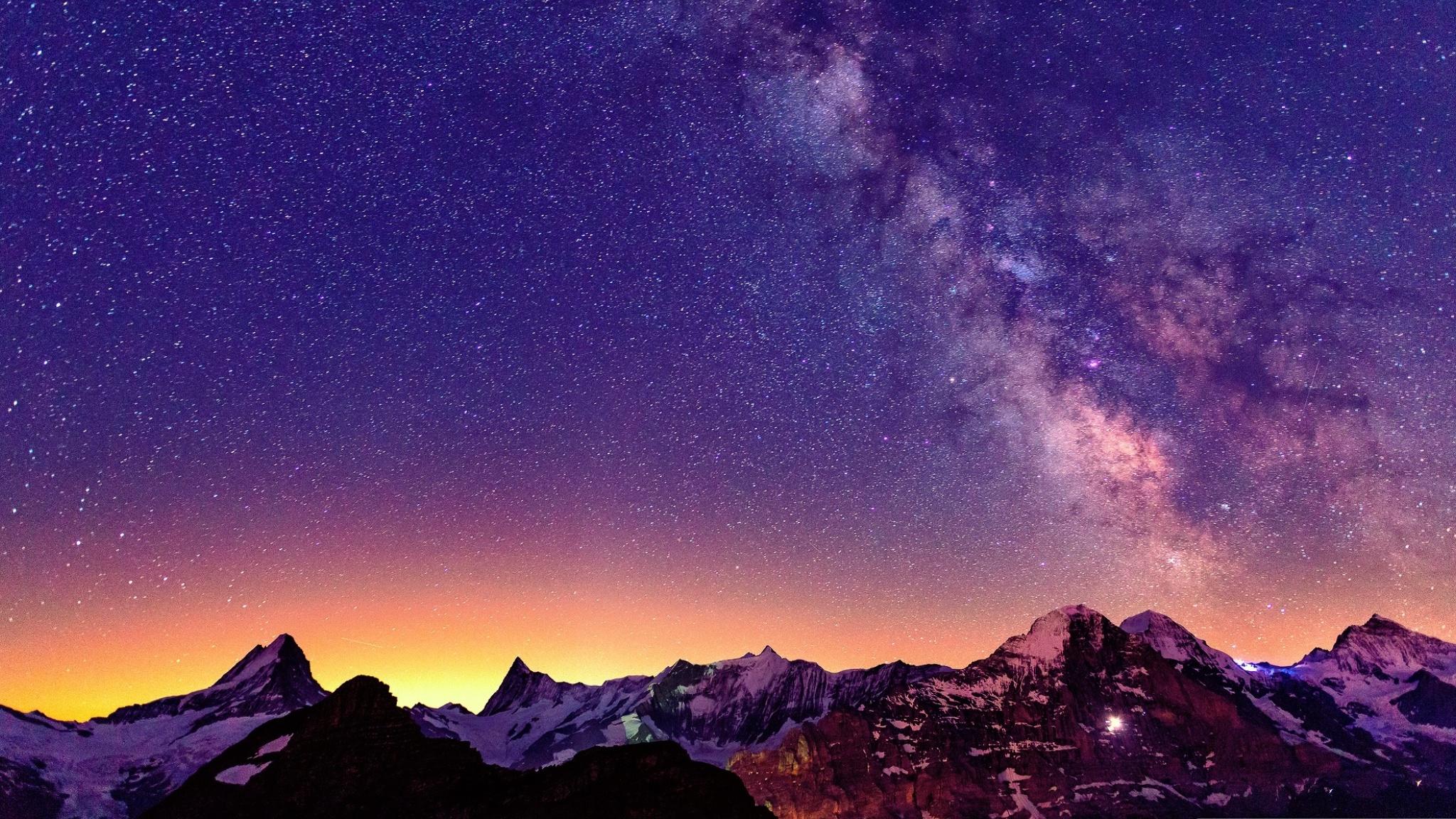 Voie Lactée Fond Décran Hd Arrière Plan 2048x1152 Id