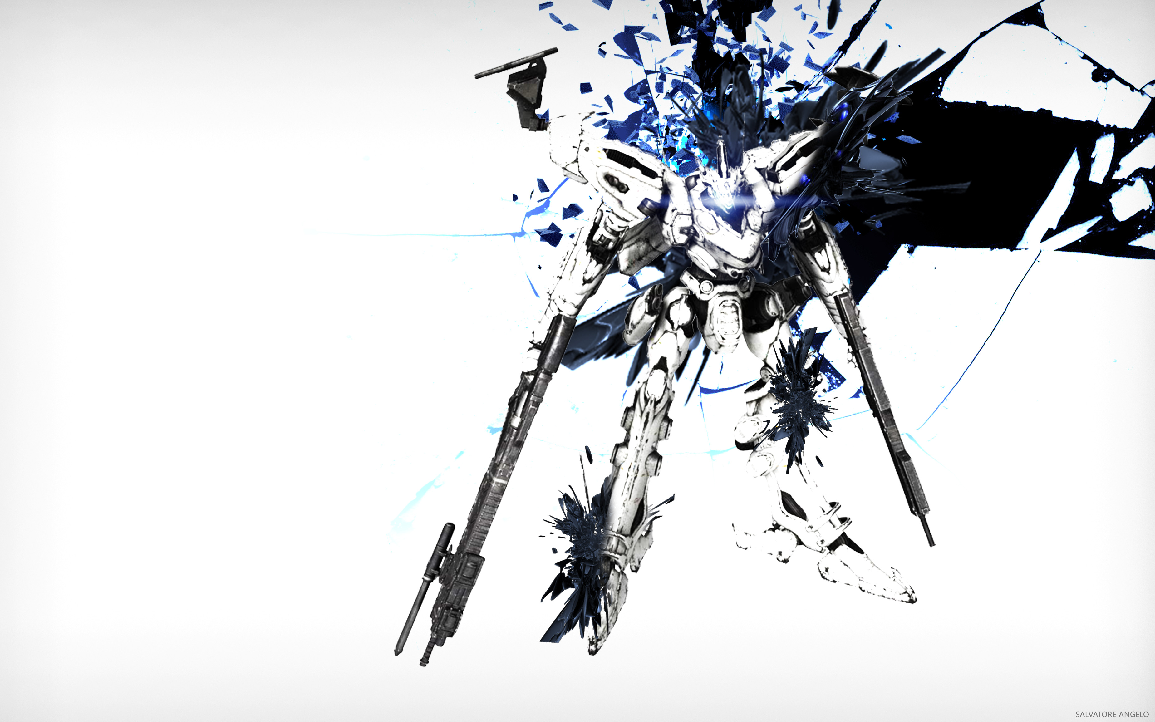 Armored Core 4 For Answer White Glint Wallpaper Full HD