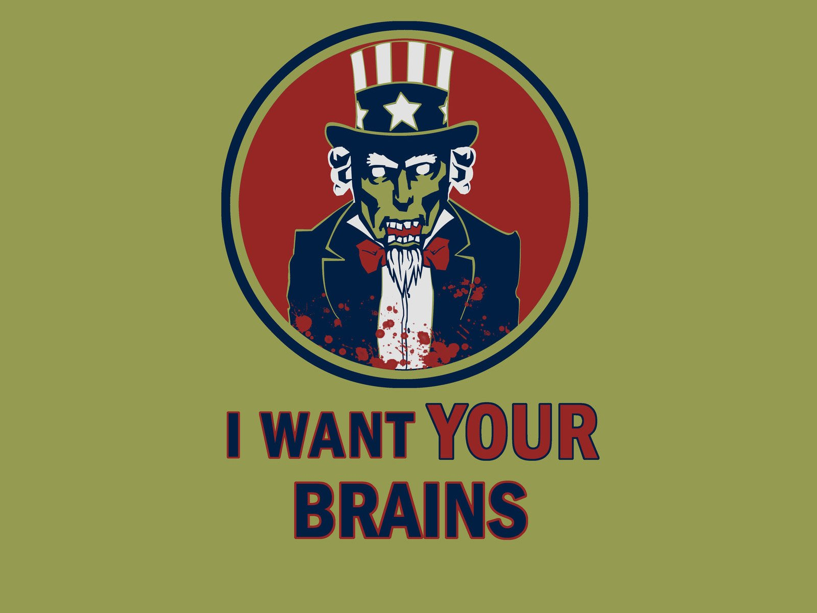 Dark - Zombie  Uncle Sam Wallpaper