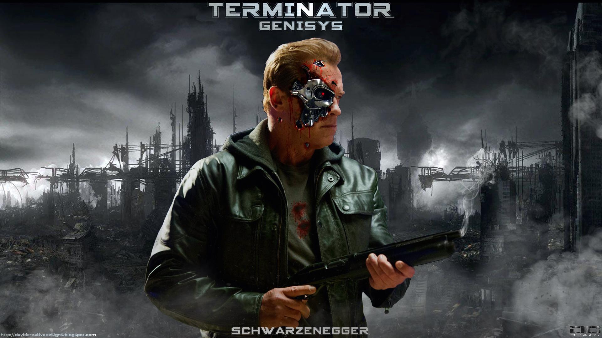 Movie - Terminator Genisys  Arnold Schwarzenegger Poster Fan Art Wallpaper
