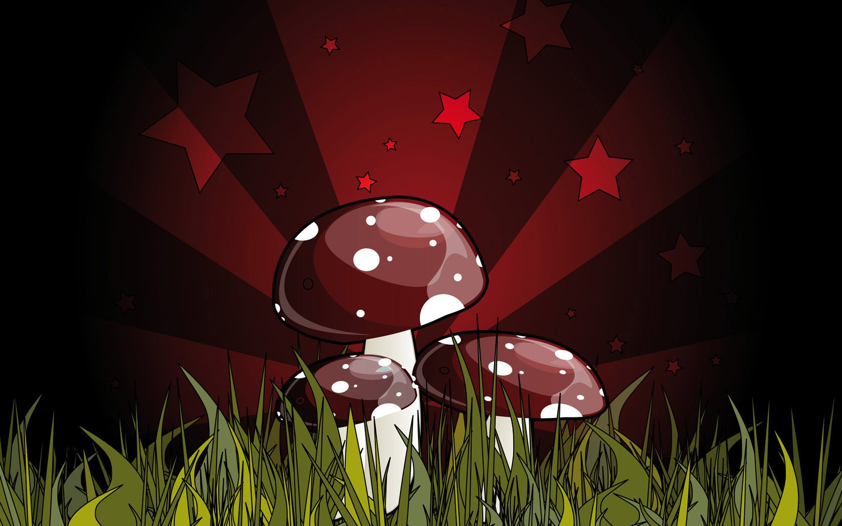 Earth - Artistic  Mushroom Wallpaper