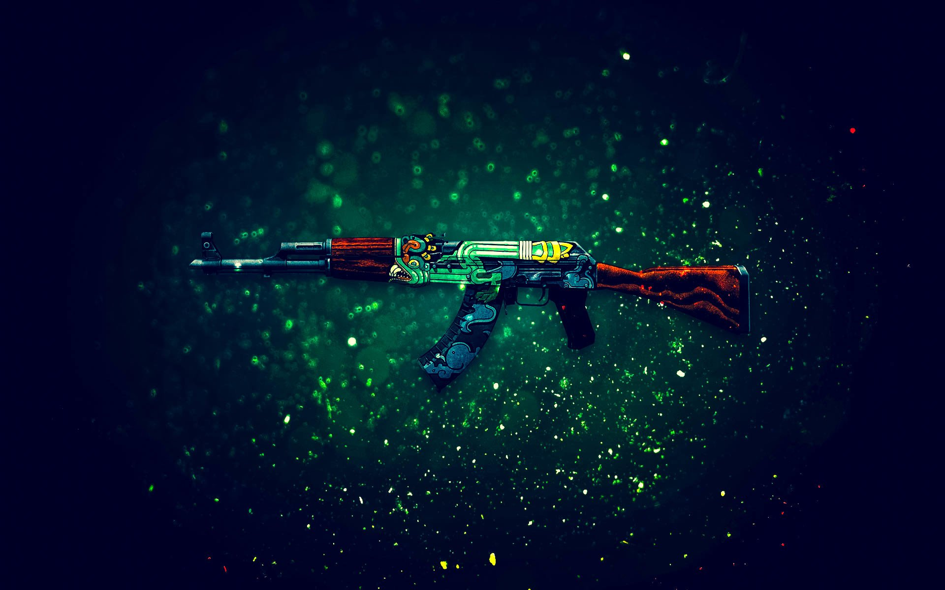 Ak 47 fire serpent full hd wallpaper and background image - Counter strike wallpaper hd ...