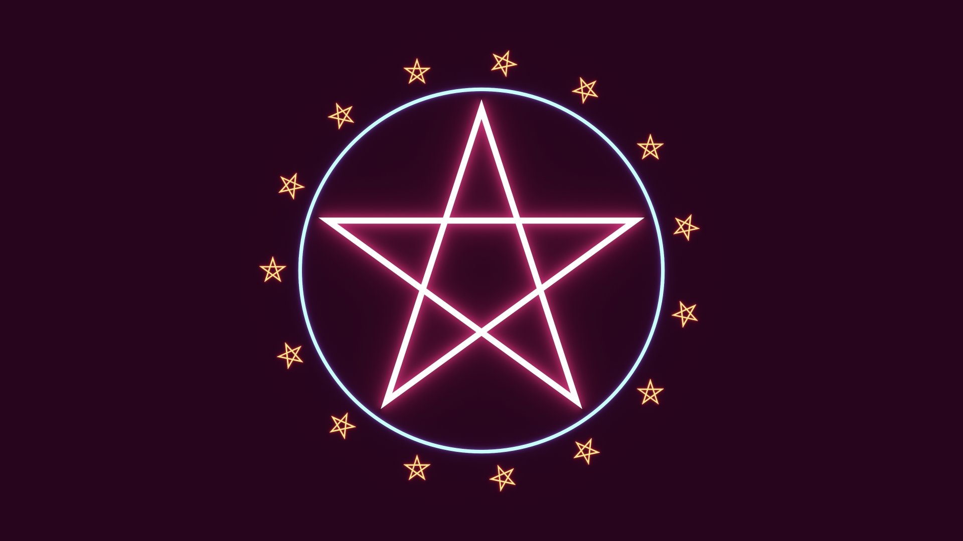 pentagram inside a circle 4k Ultra HD Wallpaper ... |Pentagram Wallpaper Uhd