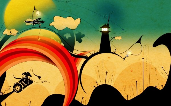 Abstract Artistic Lighthouse HD Wallpaper | Background Image