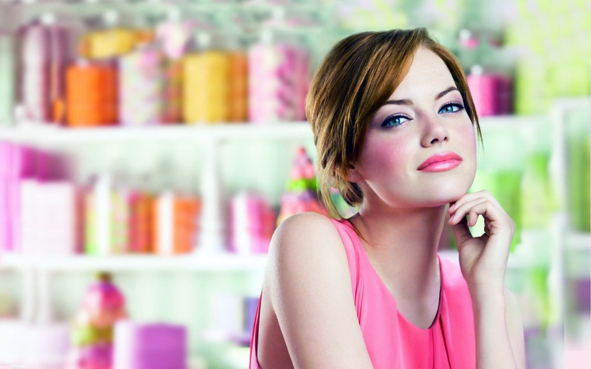 Celebrity - Emma Stone  Woman Pretty Cute Wallpaper
