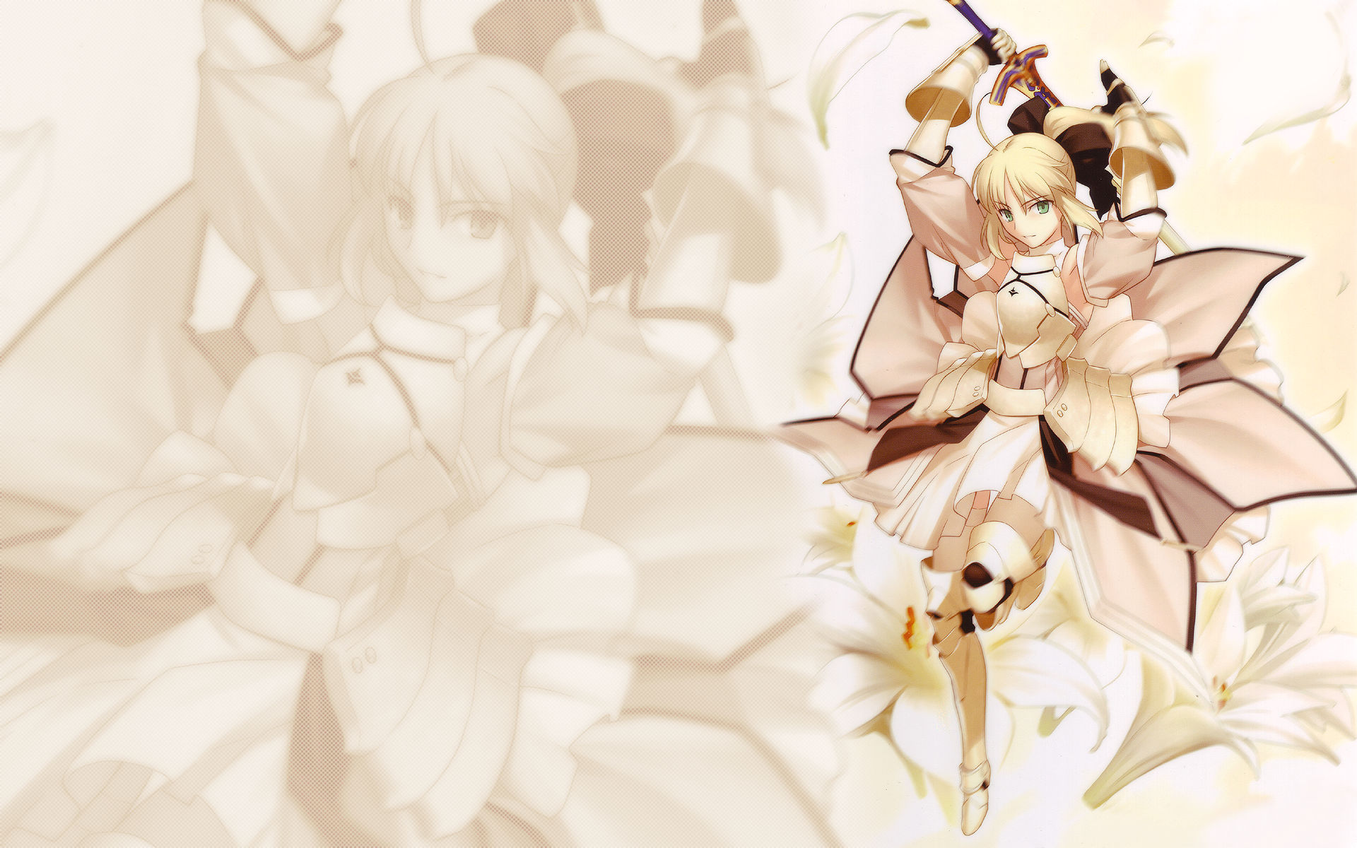 Anime - Fate/Stay Night  - Saber Lily Wallpaper