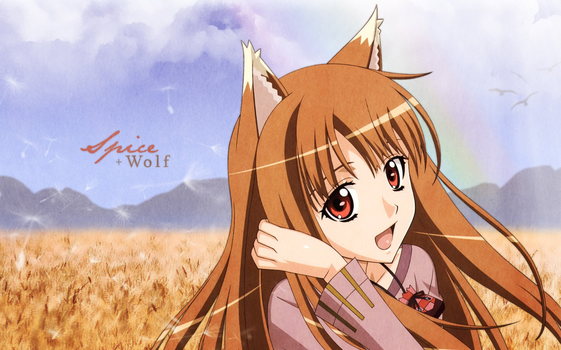 Anime - Spice and Wolf  Anime Wolf Wallpaper